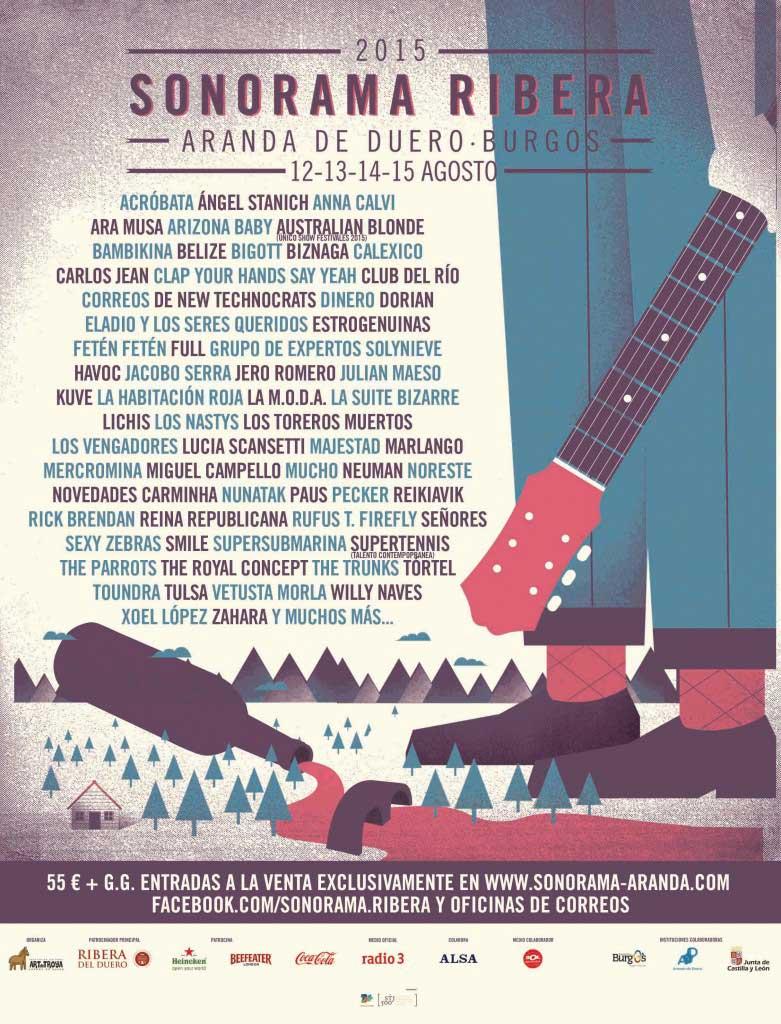 Cartel Sonorama Ribera del Duero 2015