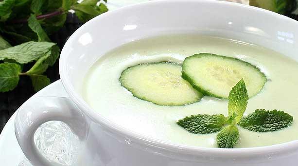 Receta Sopa fría de Pepino y Yogurt