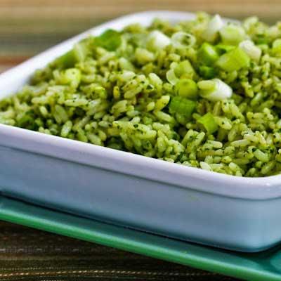 Receta de Arroz en Salsa Verde