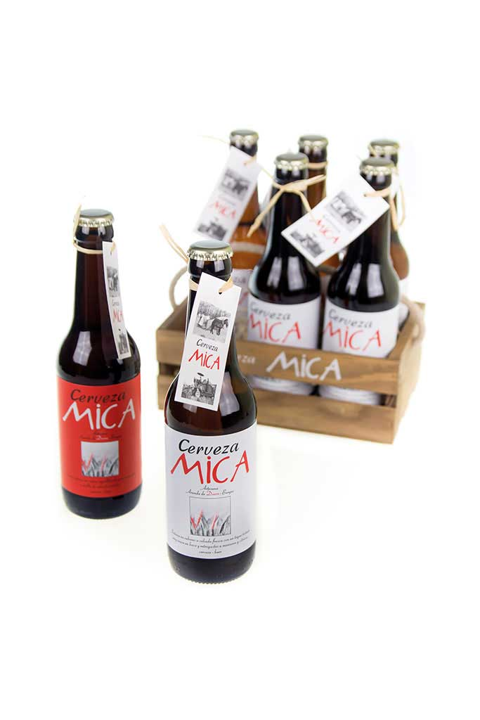 Pack cerveza Mica oro cuarzo