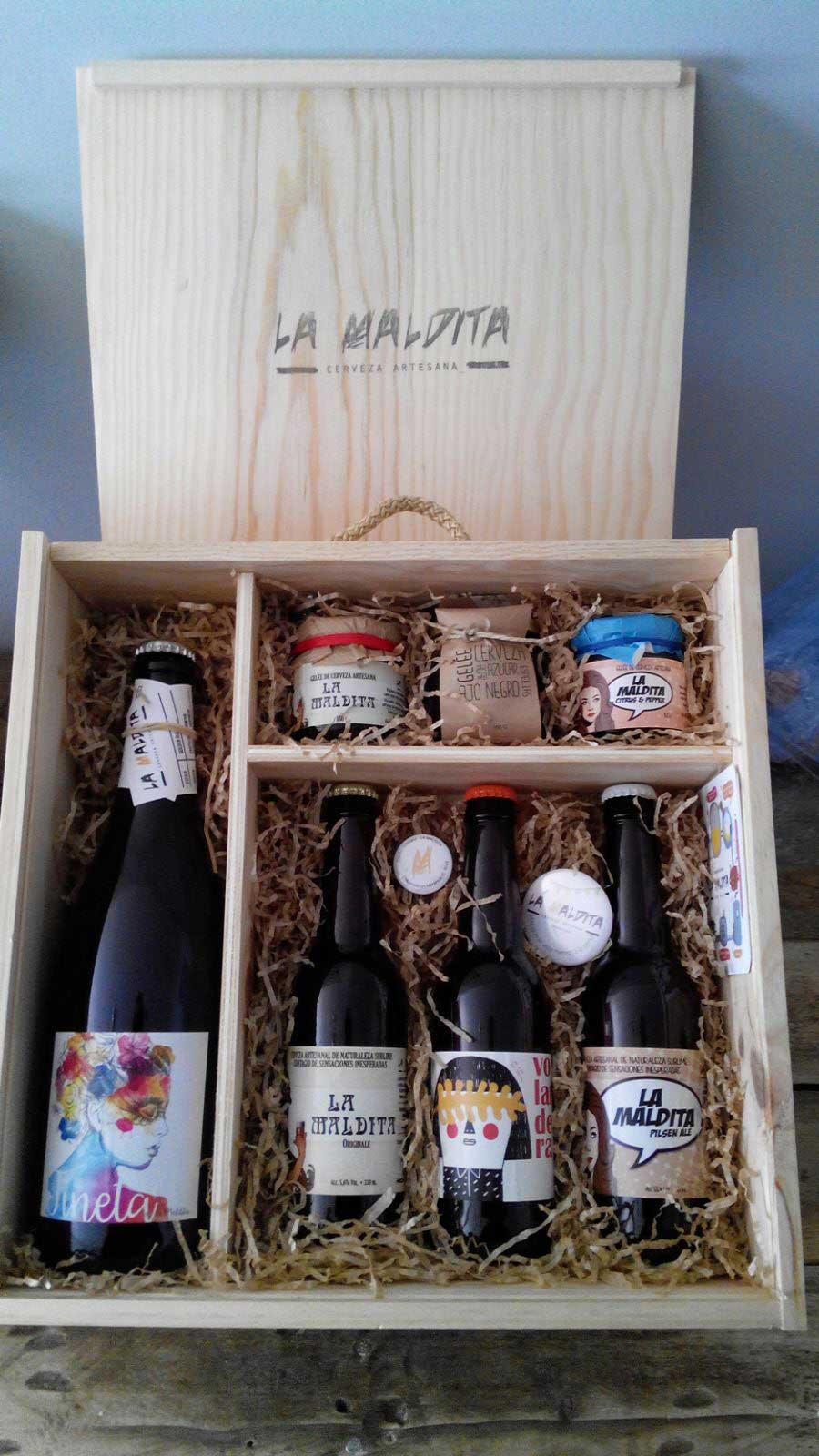 Comprar Cerveza Artesanal y Gelée Artesanal de Cerveza La Maldita. Pack degustación - regalo. Producto Gourmet de Ciudad Real. Delicatessen La Mancha.