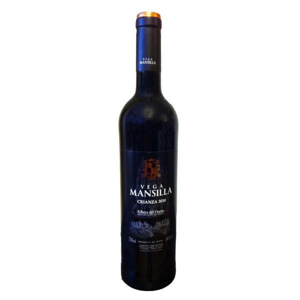 Comprar Vino Tinto Crianza Vega Mansilla, mínimo 12 meses en barrica. Uva 100% tempranillo. D.O. Ribera de Duero. Producto Gourmet. Delicatessen de Burgos.