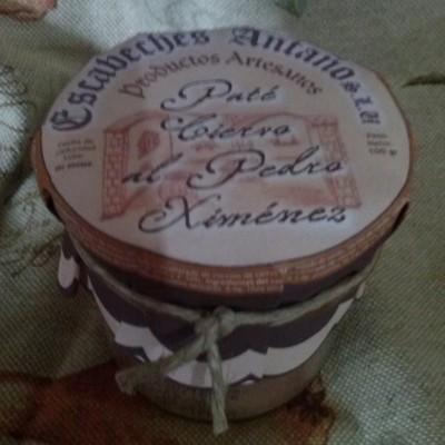 Comprar Paté de Ciervo al Pedro Ximénez. Elaboración artesanal de Escabeches Antaño. Tradicional. Producto Gourmet de Albacete, Castilla – La Mancha