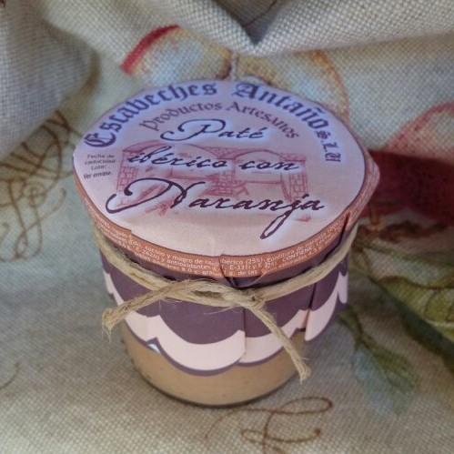 Comprar Paté Ibérico a la Naranja. Elaboración artesanal de Escabeches Antaño. Receta Tradicional. Producto Gourmet de Albacete, Castilla – La Mancha