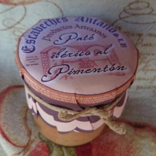 Comprar Paté Ibérico al Pimentón de la Vera. Elaboración artesanal de Escabeches Antaño. Producto Gourmet de Albacete, Castilla – La Mancha