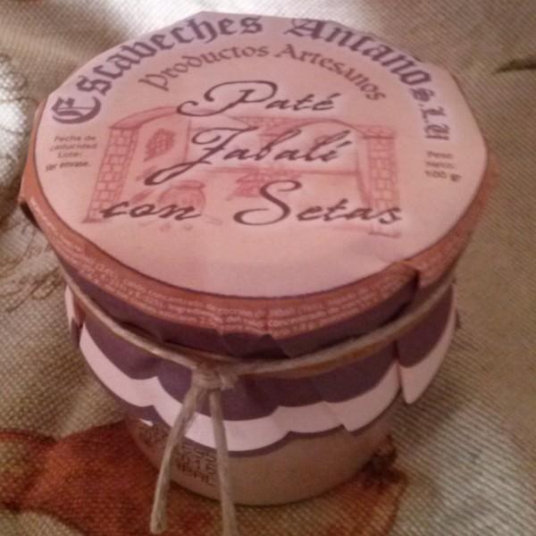 Comprar Paté de Jabalí con Setas. Elaboración artesanal de Escabeches Antaño. Receta Tradicional. Producto Gourmet de Albacete, Castilla – La Mancha