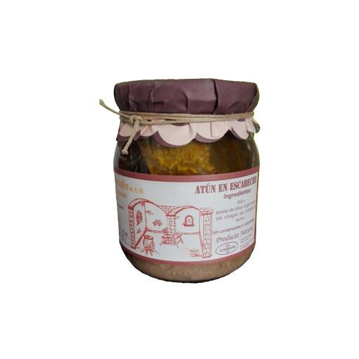 Comprar Atún en escabeche artesanal de Escabeches Antaño. Receta tradicional. Producto Gourmet de Albacete, Castilla – La Mancha