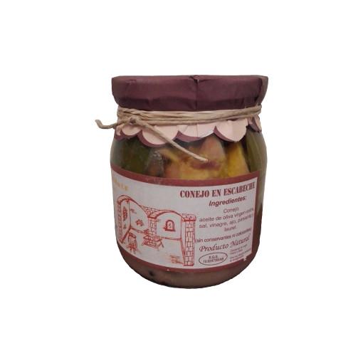 Comprar Conejo en escabeche artesanal de Escabeches Antaño. Receta tradicional. Producto Gourmet de Albacete, Castilla – La Mancha