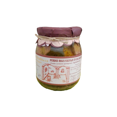 Comprar Perdiz Roja Salvaje en escabeche artesanal de Escabeches Antaño. Procede de la caza. Producto Gourmet. Delicatessen de Albacete, Castilla – La Mancha