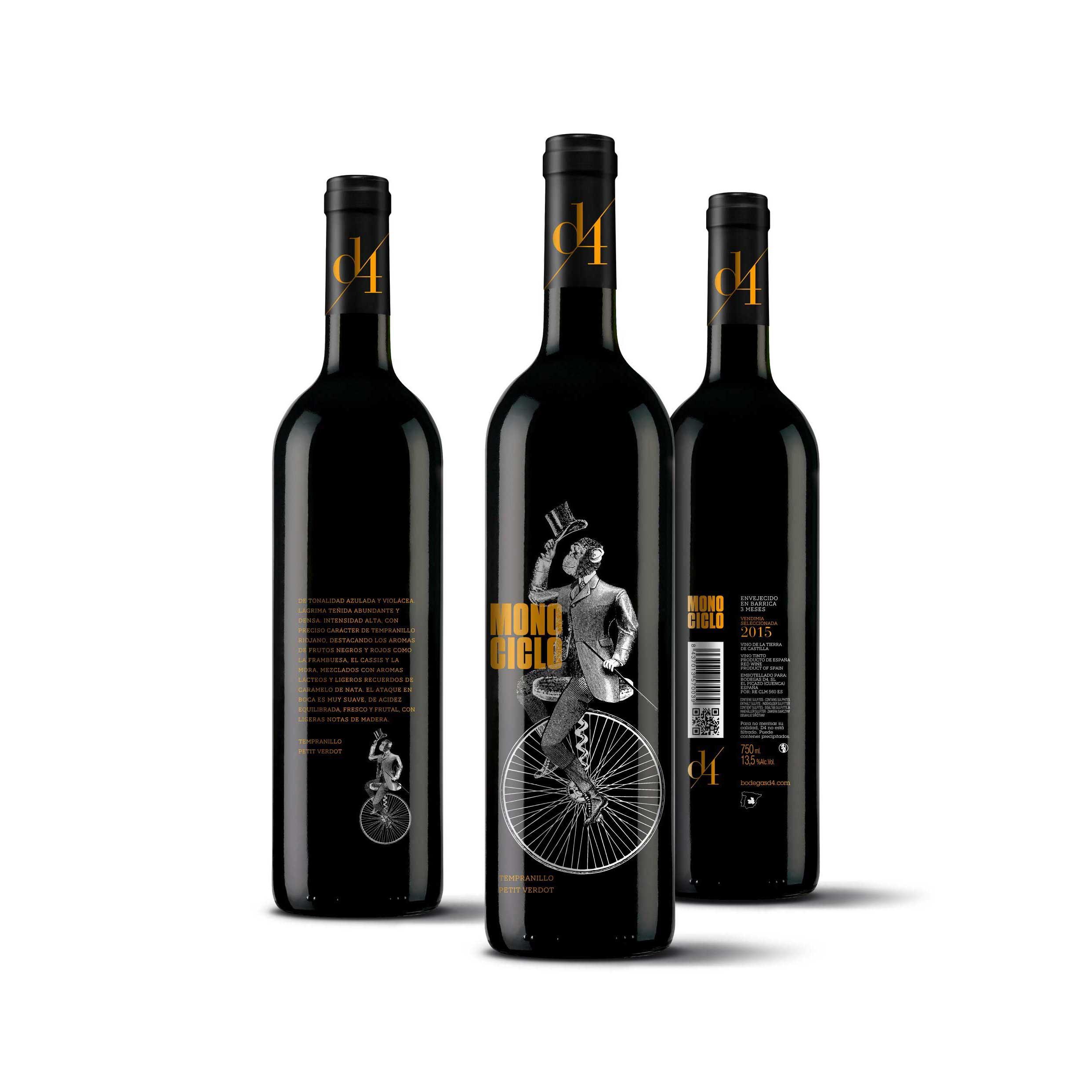 Comprar Vino Tinto de Autor, Monociclo. Uvas Tempranillo y Petit Verdot. I.G.P. Vinos Tierra de Castilla. Producto Gourmet Cuenca. Delicatessen Castilla-La Mancha