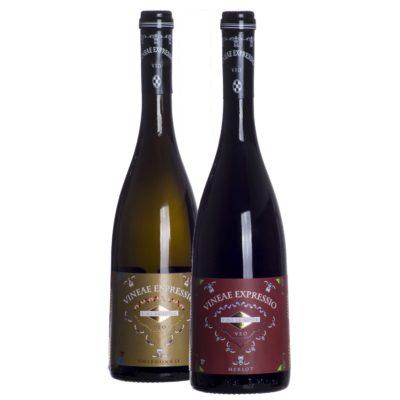 Comprar Vino Tinto y Blanco de Autor, Vineae ExpressiO VEO Merlot y Chardonnay Tierra de Castilla. Gourmet Valdepeñas, Ciudad Real. Delicatessen Castilla-La Mancha