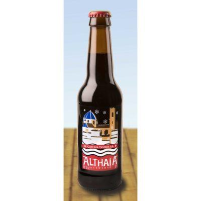 Comprar Cerveza Artesanal Althaia Winter Ale. Cerveza tostada, con cuerpo, compleja, alta graduación. Producto Gourmet y delicatessen de Altea, Alicante.