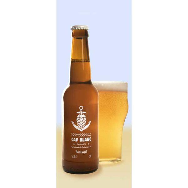 Comprar Cerveza Artesanal Cap Blanc de Althaia, tipo Session IPA, con cuerpo bajo. Muy refrescante. Producto Gourmet y delicatessen de Altea, Alicante.