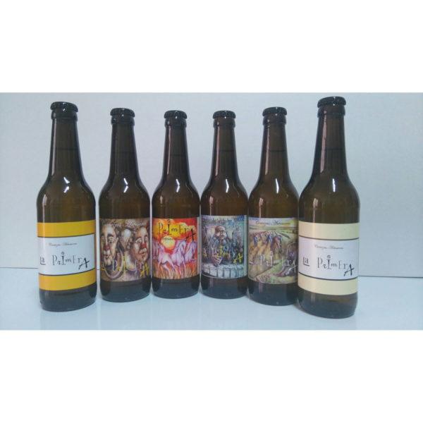Comprar Cerveza Artesanal la Primera, pack degustación. Rubia, trigo, tostadas, roja y negra. Producto gourmet de Ciudad Real. Delicatessen Castilla-La Mancha.