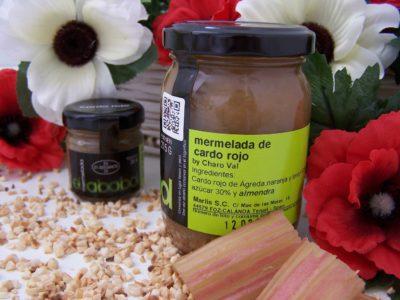 Comprar Mermelada Artesanal de Cardo Rojo de Agreda, El Ababol. Receta de la chef Charo Val. Producto Gourmet de Teruel. Delicatessen de Aragón