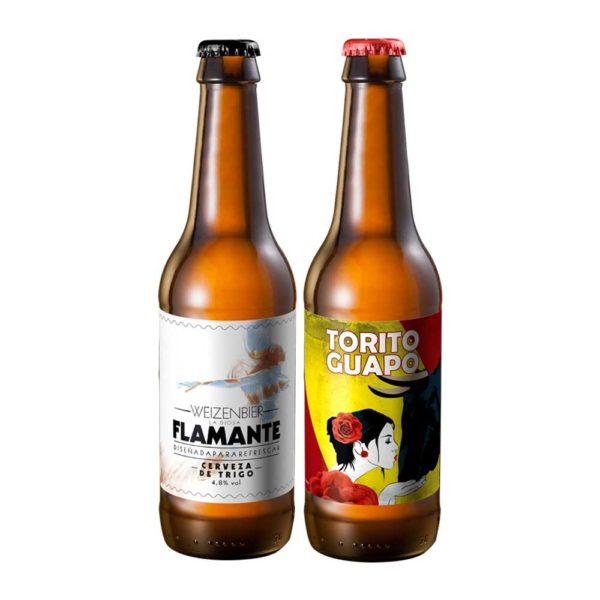 Comprar Cerveza Artesanal Torito Guapo - Flamante, pack Maibock y Weizenbier. Cebada y trigo. Producto gourmet de Cuenca. Delicatessen Castilla-La Mancha