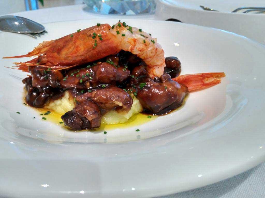 Restaurante Palacio de Gallego, Baeza. Langostino a lo jienense