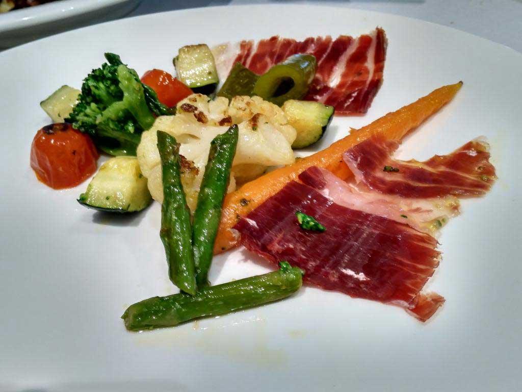 Restaurante Palacio Gallego.. Verduras brasa