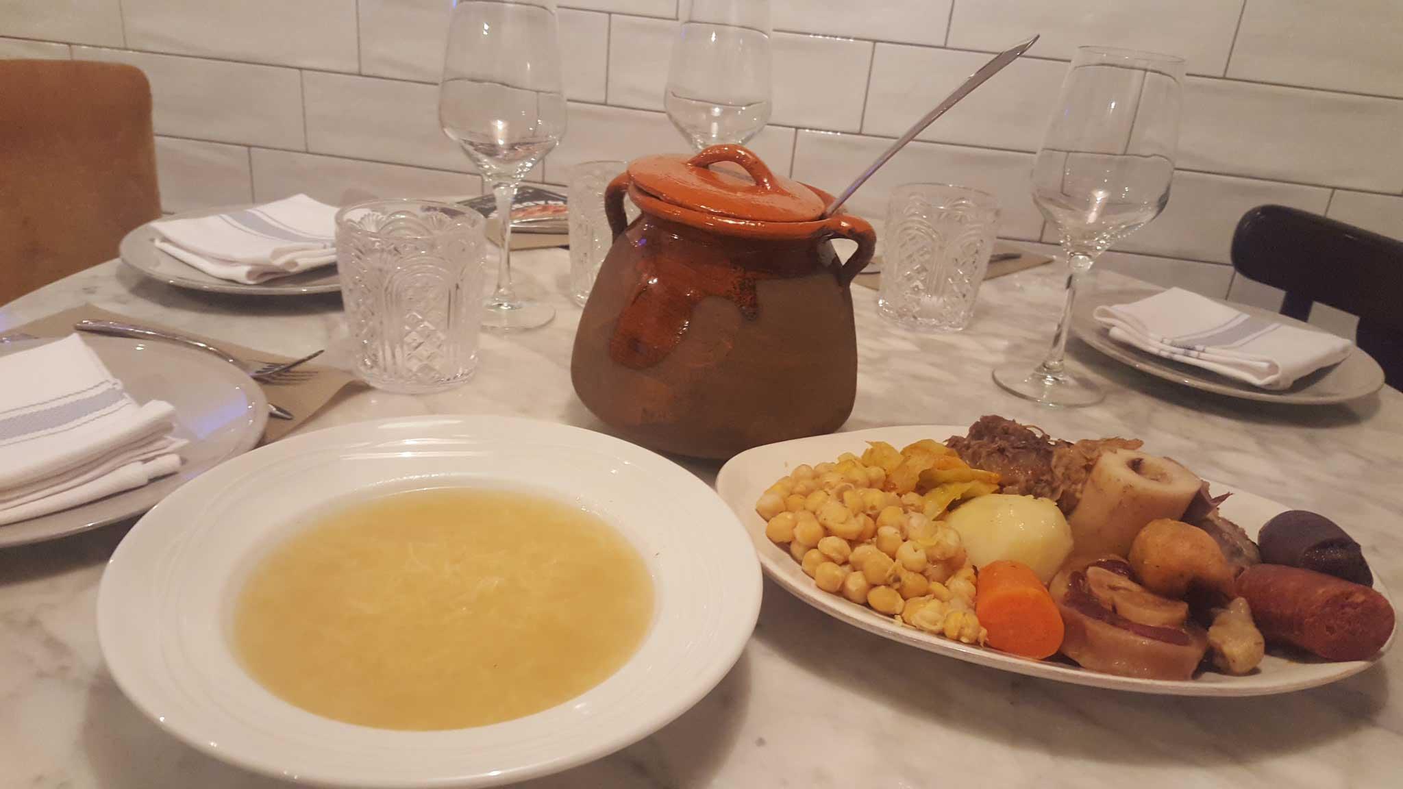 Restaurante Taberna y Media. Cocido