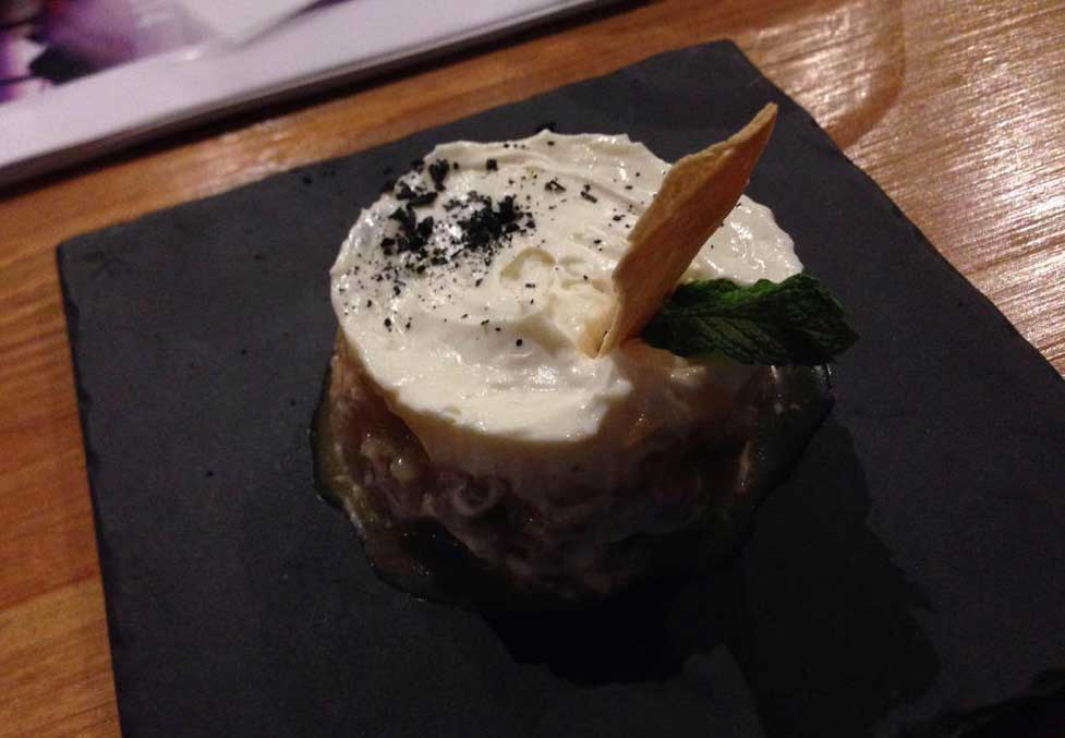 Restaurante TRES60 - Tartar salmon